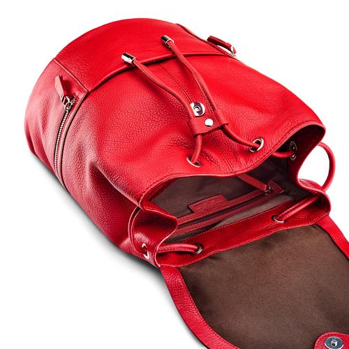 Zainetto in pelle bata, rosso, 964-5259 - 17