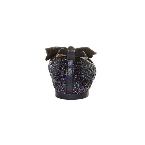 Ballerine da ragazza con glitter mini-b, nero, 329-6177 - 17