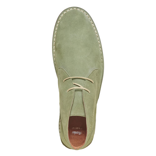 Scarpe di pelle in stile Desert Boots bata, verde, 843-7267 - 19