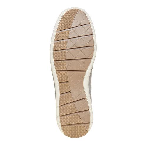 Sneakers informali di pelle bata, beige, 843-1297 - 26