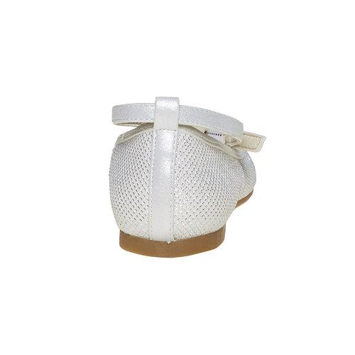 Ballerine chiare con fiocco mini-b, bianco, 329-1241 - 17
