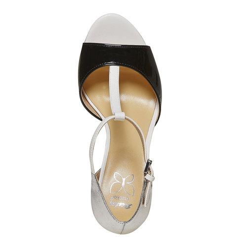 Sandali da donna con tacco insolia, bianco, 761-1259 - 19