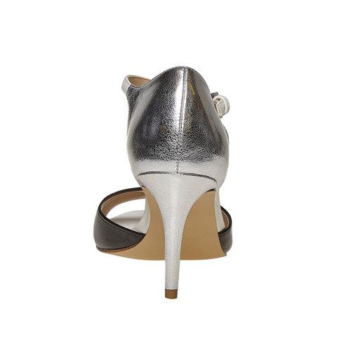Sandali da donna con tacco insolia, bianco, 761-1259 - 17