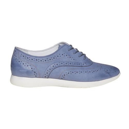 Scarpe basse blu in pelle bata, blu, 526-9567 - 15