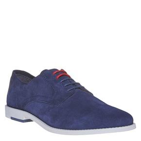 Scarpe basse blu da uomo in pelle in stile Derby bata, blu, 823-9262 - 13