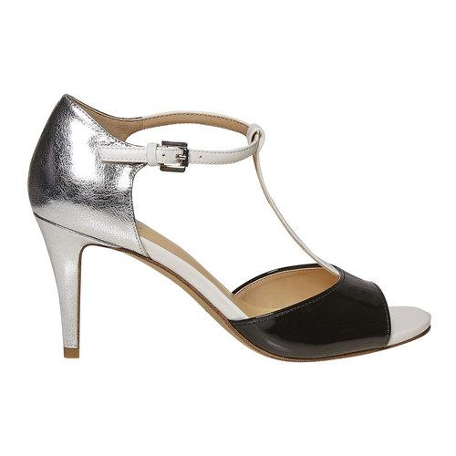 Sandali da donna con tacco insolia, bianco, 761-1259 - 15