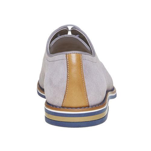 Scarpe basse casual di pelle bata, grigio, 823-2267 - 17