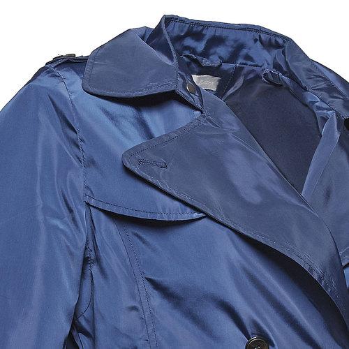 Trench blu da donna bata, blu, 979-9205 - 16