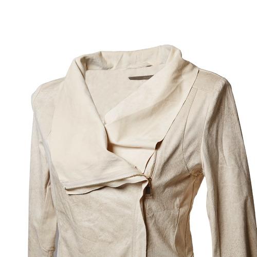 Giacca da donna con cerniera asimmetrica bata, beige, 979-8635 - 16