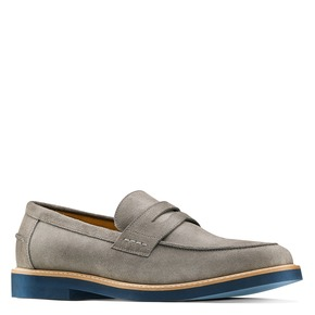 Mocassini in suede bata, 813-2163 - 13