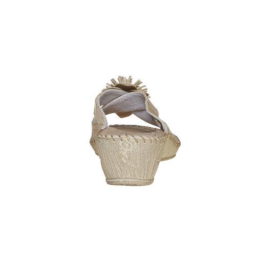 Pantofole da donna con tacco a zeppa, marrone, 674-3121 - 17