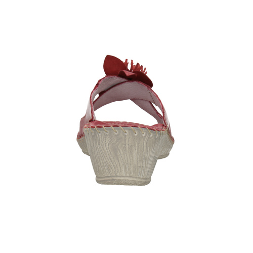 Pantofole da donna in pelle, rosso, 674-5121 - 17