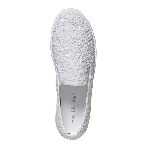 Sneakers Plimsoll da donna con pizzo bata, bianco, 549-1132 - 19
