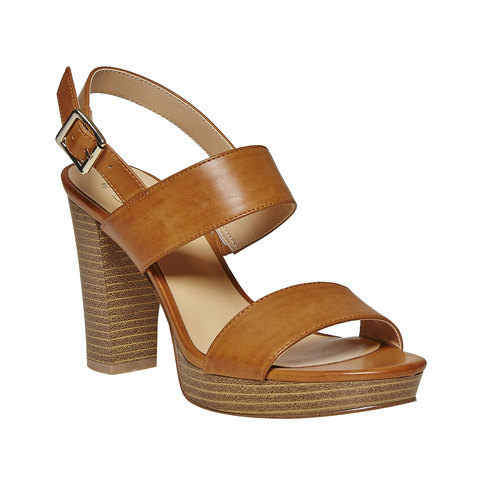 Sandali da donna con plateau insolia, marrone, 761-4727 - 13