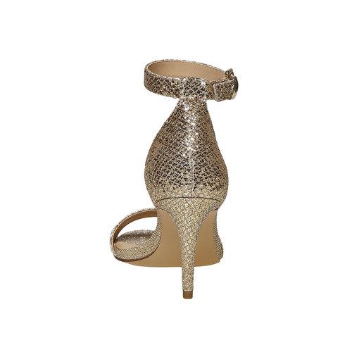sandali metalizzati con tacco insolia, oro, 769-8275 - 17