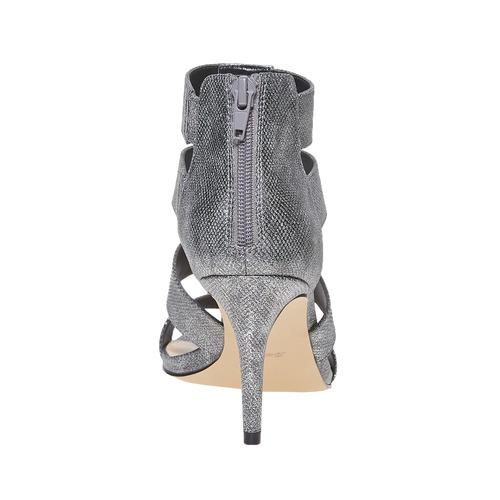 sandali metalizzati con tacco insolia, grigio, 761-2399 - 17