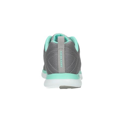 Sneakers con memory foam skechers, grigio, 509-2965 - 17