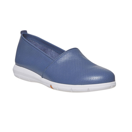 Slip-on in pelle da donna flexible, 514-0270 - 13