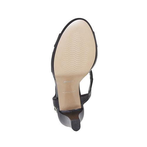 Sandali da donna in pelle bata, nero, 764-6587 - 26