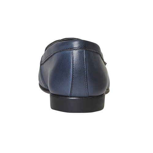 Mocassini in pelle da donna con cuciture flexible, blu, 514-9280 - 17