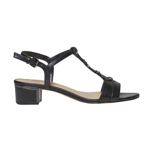 Sandali da donna con applicazioni decorative bata, nero, 661-6249 - 15
