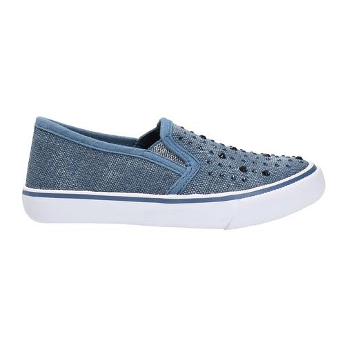 Scarpe da bambina in stile Slip-on north-star, blu, 229-9193 - 15
