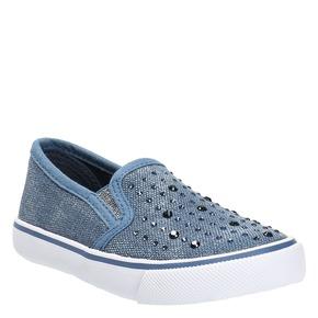 Scarpe da bambina in stile Slip-on north-star, blu, 229-9193 - 13