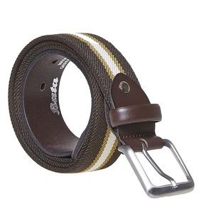 Cintura da uomo in tessuto bata, marrone, 959-4285 - 13