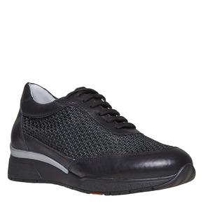 Sneakers da donna in pelle flexible, nero, 529-6586 - 13