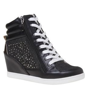Sneakers con tacco a zeppa north-star, nero, 729-6670 - 13