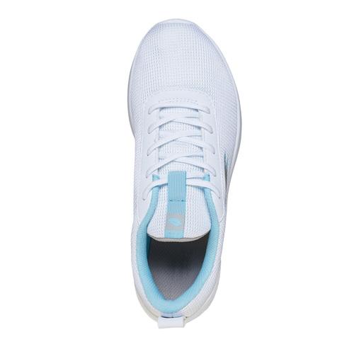Sneakers da donna con dettagli blu lotto, bianco, 509-1952 - 19