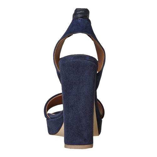 Sandali in pelle con nappe bata, blu, 763-9581 - 17