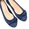 Ballerine con tacco bata, blu, 523-9420 - 26
