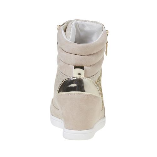 Sneakers con tacco a zeppa north-star, bianco, 729-1670 - 17