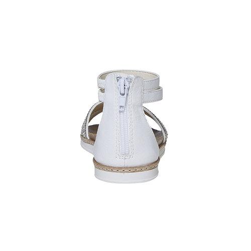 Sandali da ragazza con strass mini-b, bianco, 361-1196 - 17