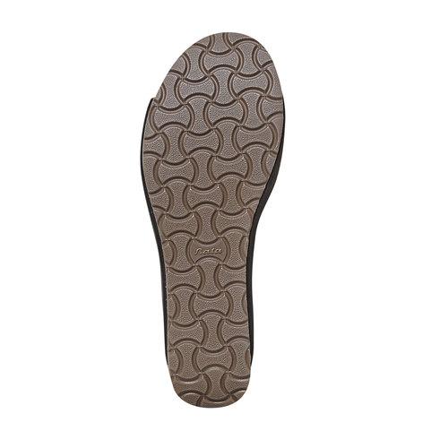 Sandali neri con perforazioni bata, nero, 669-6248 - 26