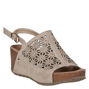 Sandali da donna con plateau bata, 669-2248 - 13