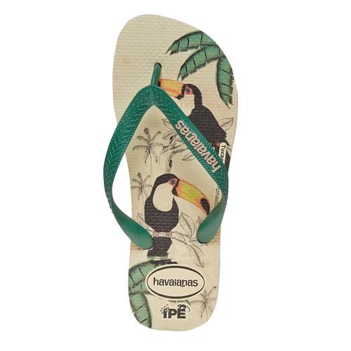Infradito da donna con stampa havaianas, verde, 572-7345 - 19
