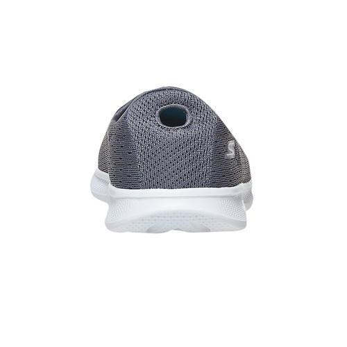 Slip-on grigie da donna con trafori skechers, grigio, 509-2966 - 17