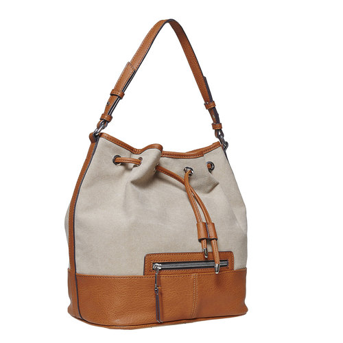 Borsetta da donna in stile Bucket Bag bata, marrone, 969-8332 - 13