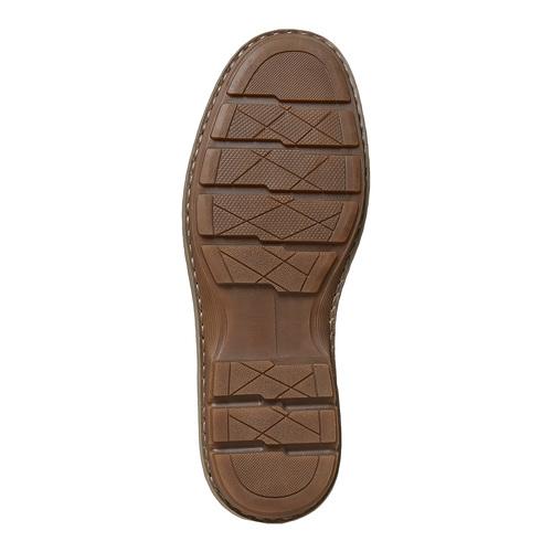 Scarpe basse marroni in pelle bata, marrone, 846-4376 - 26