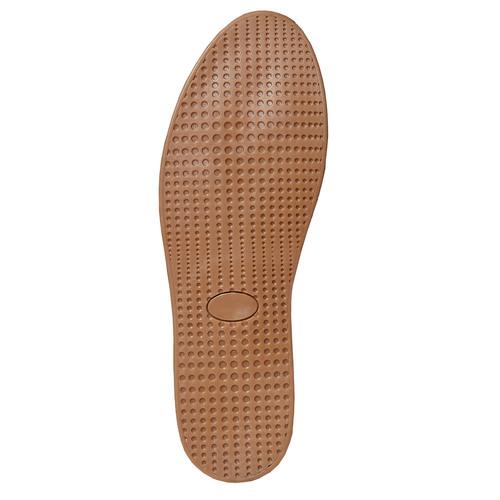 Sneakers in pelle con suola in iuta bata, grigio, 853-2317 - 26