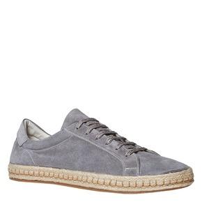 Sneakers in pelle con suola in iuta bata, 853-2317 - 13