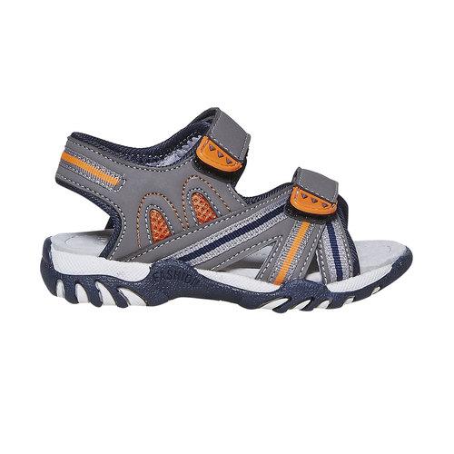 Sandali da bambino con chiusura a velcro mini-b, grigio, 261-2193 - 15