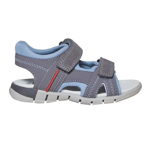 Sandali in pelle da bambino mini-b, grigio, 264-2184 - 15