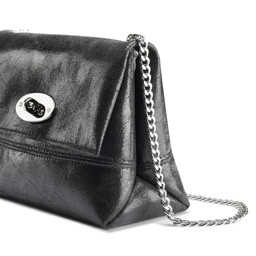 Mini-bag in pelle nera bata, nero, 964-6239 - 15