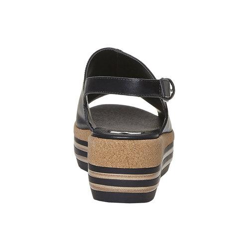 Sandali neri da donna bata, nero, 661-6241 - 17