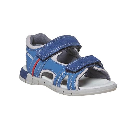 Sandali in pelle blu mini-b, blu, 264-9184 - 13