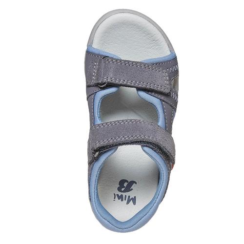 Sandali in pelle da bambino mini-b, grigio, 264-2184 - 19