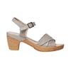 Sandali da donna con tacco naturale bata-touch-me, grigio, 664-2231 - 15